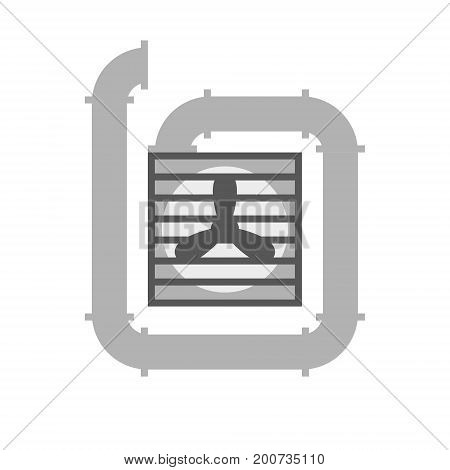 Ventilation vector minimal gray illustration or symbol