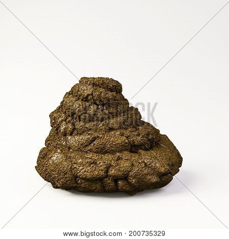 3d illustration of an excrement isolated on white background