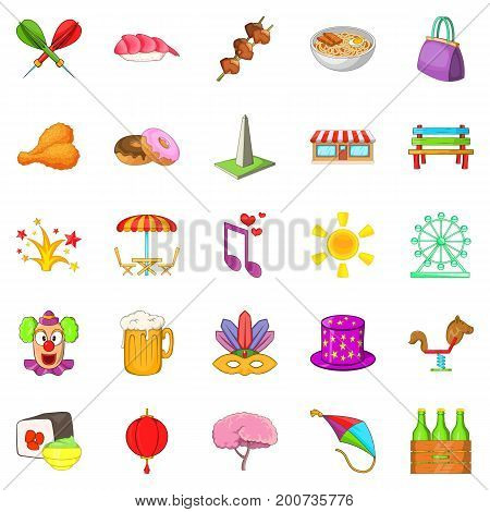 Act icons set. Cartoon set of 25 act vector icons for web isolated on white background