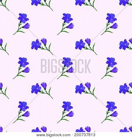 Seamless Background Image Colorful Botanic Flower Leaf Plant Purple Freesia
