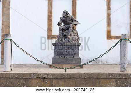 Statue of Francisco de zurbaran in llerena Extremadura Spain