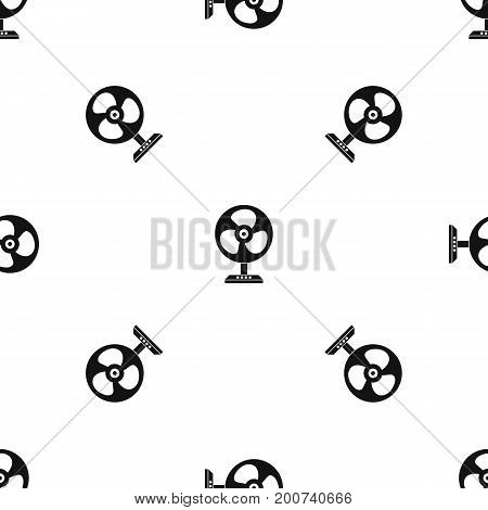 Fan pattern repeat seamless in black color for any design. Vector geometric illustration