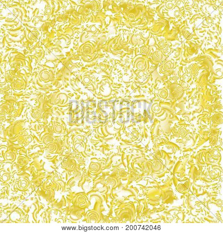 A circle psychedelic abstract background colorful swirls yellow. Flowing fluid. Illustration for poster, brochure, invitation, cover book, catalog, website. Swirl and stains pattern.