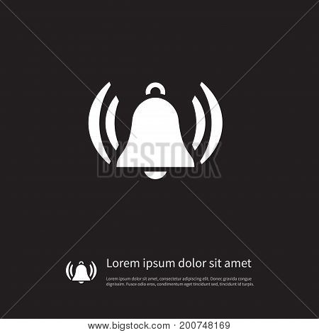 Handle Vector Element Can Be Used For Handle, Hand, Bell Design Concept.  Isolated Handbell Icon.