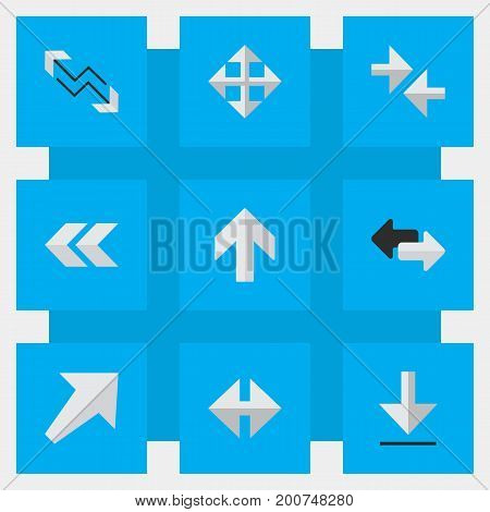 Elements Export, Widen, Back And Other Synonyms Up, Direction And Southwest.  Vector Illustration Set Of Simple Indicator Icons.