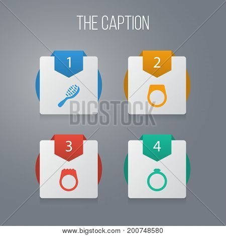 Icon Instrument Set Of Circle, Engagement, Gemstone And Other Vector Objects