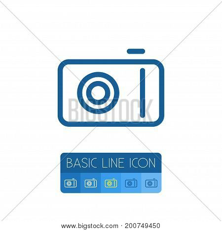 Camera Vector Element Can Be Used For Camera, Video, Photo Design Concept.  Isolated Photo Outline.