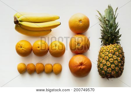 Fruits Lying In Rows