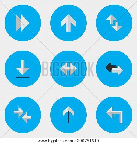 Elements Cursor, Loading, Up And Other Synonyms Forward, Import And Loading.  Vector Illustration Set Of Simple Cursor Icons.