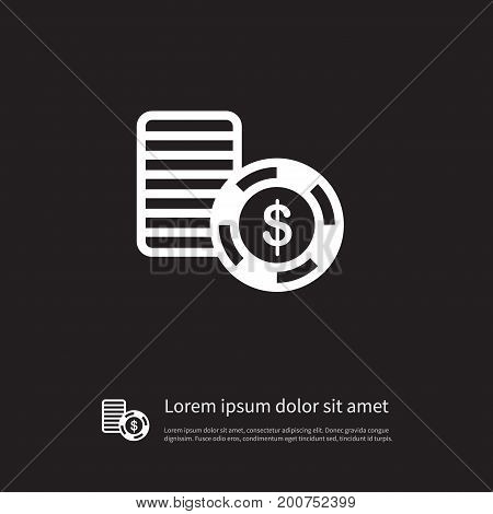 Disk  Vector Element Can Be Used For Chip, Stack, Casino Design Concept.  Isolated Stack Icon.