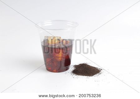 Cold Tea; Objects On White Background