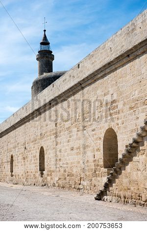 Walls And Tower Of Aigues-mortes Castle, France