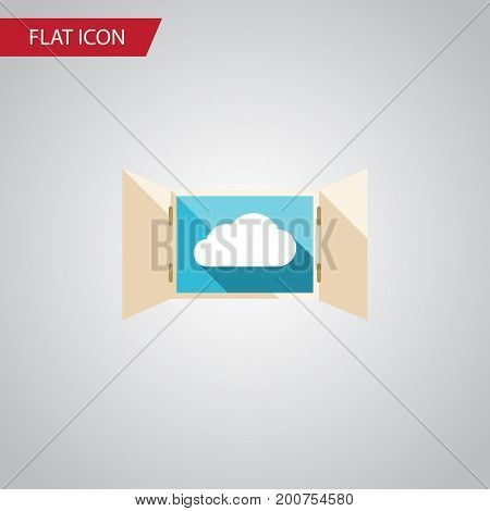 Cloud Vector Element Can Be Used For Cloud, Open, Window Design Concept.  Isolated Open Flat Icon.