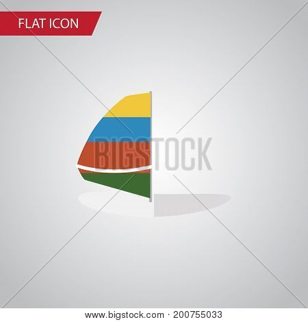 Surfing Vector Element Can Be Used For Surfing, Sailboard, Sea Design Concept.  Isolated Sailboard Flat Icon.