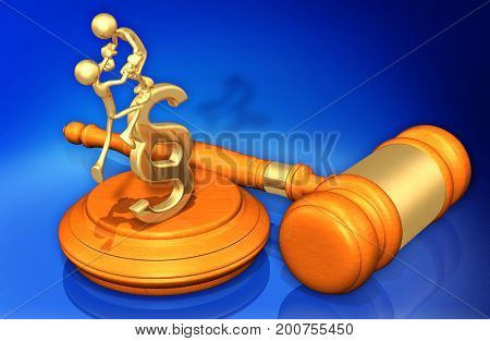 Legal Aid The Original 3D Characters Illustration