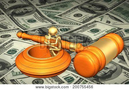 Legal Concept The Original 3D Character Illustration
