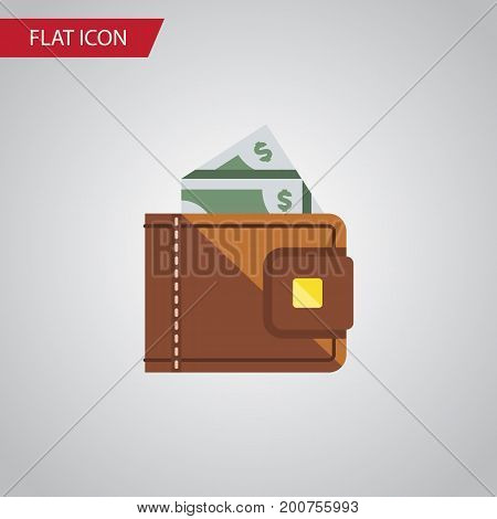 Finance Vector Element Can Be Used For Finance, Cash, Wallet Design Concept.  Isolated Cash Flat Icon.