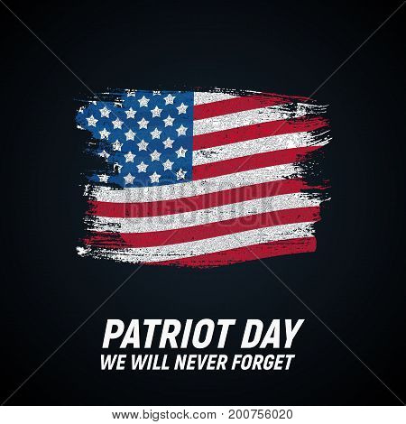 9.11 Patriot Day background We Will Never Forget Poster Template Vector illustration EPS10