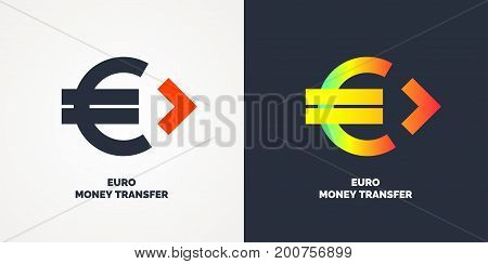 Modern money transfer logo and emblem. Vector illustration