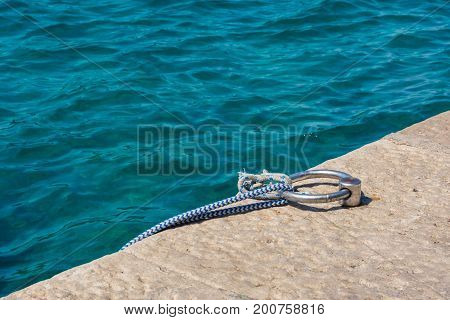 Crystal Clear Mediterranean Water Beach Ocean Closeup Texture Landscape Natural Feature Boat Anchor