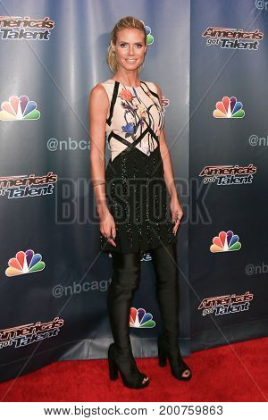 NEW YORK-SEP 9: Heidi Klum attends the America's Got Talent Season 10 Semi-finals taping at Radio City Music Hall on on September 9, 2015 in New York City.