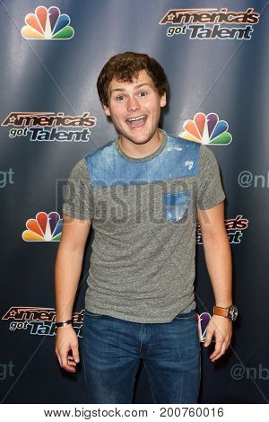 NEW YORK-SEP 9: Comedian Drew Lynch attends the America's Got Talent Season 10 Semi-finals taping at Radio City Music Hall on on September 9, 2015 in New York City.