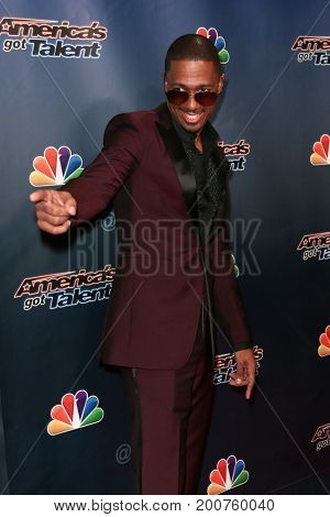 NEW YORK-SEP 9: TV host Nick Cannon attends the America's Got Talent Season 10 Semi-finals taping at Radio City Music Hall on on September 9, 2015 in New York City.
