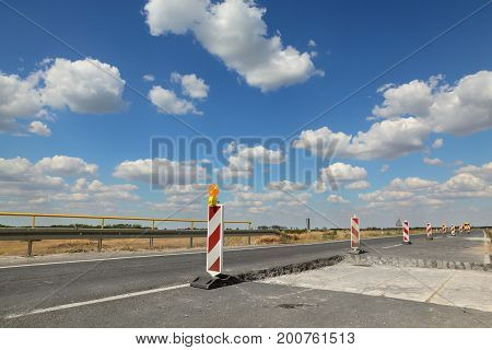 Highway Or Road In Reconstruction