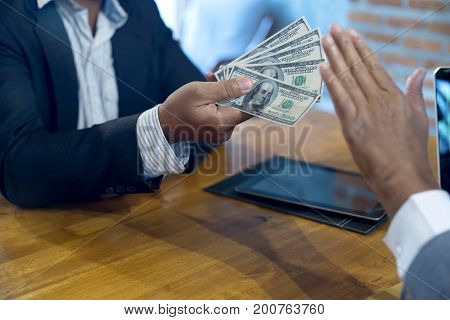 Business Man Give Bribe To The Officer But Officer Say No