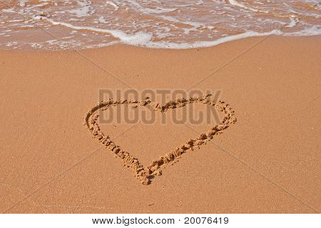 Love Heart In The Sand