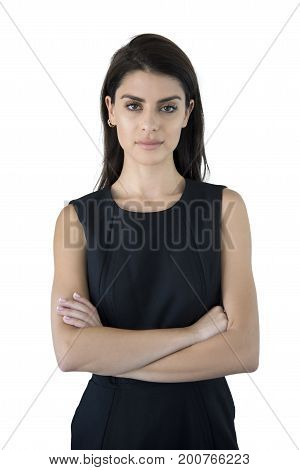 Business Woman With Arms Crossed.