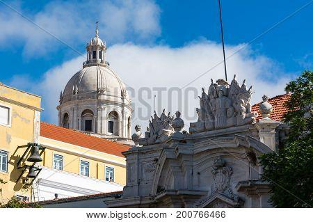 Panteao Nacional Lisbon Portugal Cathedral Alfama Monument Landmark Destination Religious Architectu