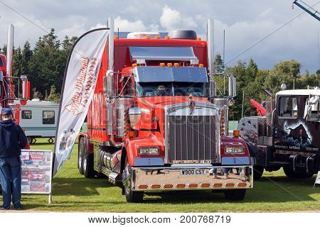 Perfect Kenworth Red Truck At Truckfest 2017