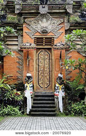 Temple Door In Bali Indonesia