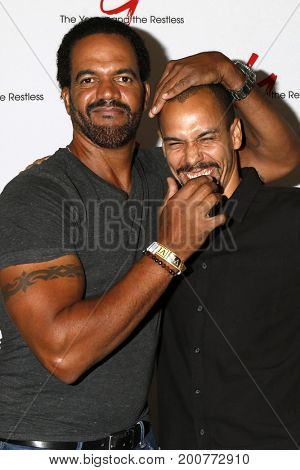 LOS ANGELES - AUG 19:  Kristoff St John, Bryton James at the Young and Restless Fan Event 2017 at the Marriott Burbank Convention Center on August 19, 2017 in Burbank, CA