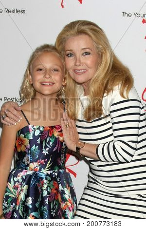 LOS ANGELES - AUG 19:  Alyvia Alyn Lind, Melody Thomas Scott at the Young and Restless Fan Event 2017 at the Marriott Burbank Convention Center on August 19, 2017 in Burbank, CA