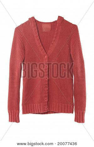 Red Sweater Isolated On White