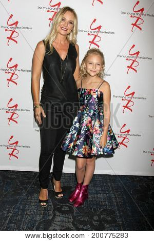 LOS ANGELES - AUG 19:  Sharon Case, Alyvia Alyn Lind at the Young and Restless Fan Event 2017 at the Marriott Burbank Convention Center on August 19, 2017 in Burbank, CA