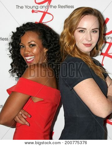LOS ANGELES - AUG 19:  Mishael Morgan, Camryn Grimes at the Young and Restless Fan Event 2017 at the Marriott Burbank Convention Center on August 19, 2017 in Burbank, CA