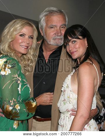 LOS ANGELES - AUG 20:  Katherine Kelly Lang, John McCook, Rena Sofer at the Bold and the Beautiful Fan Event 2017 at the Marriott Burbank Convention Center on August 20, 2017 in Burbank, CA