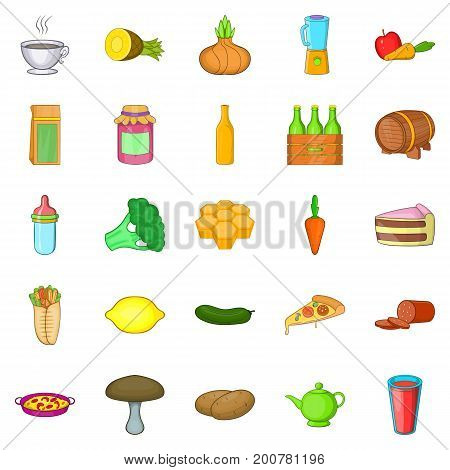 Butcher icons set. Cartoon set of 25 butcher vector icons for web isolated on white background