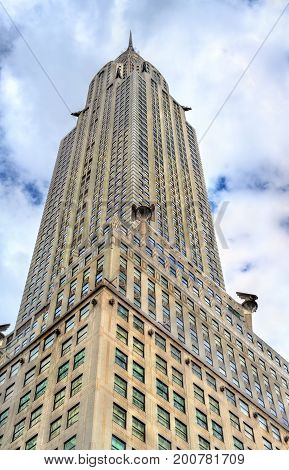 The Chrysler Building, an Art Deco-style skyscraper in Manhattan, New York City. Built in 1930