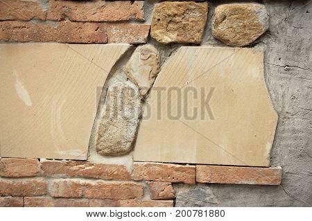 Old brick wall at beautiful vintage style