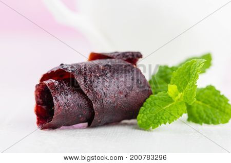 Homemade Fruit Leather Of Currant (pastila)