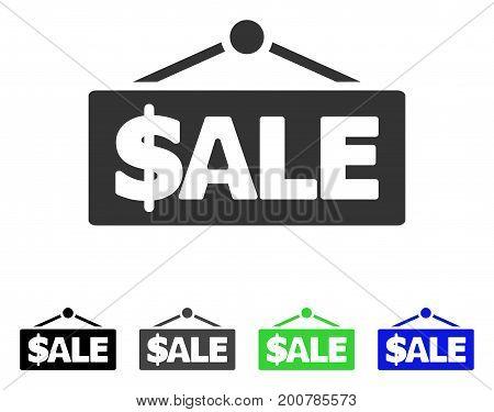 Sale Label flat vector icon. Colored sale label, gray, black, blue, green icon versions. Flat icon style for web design.