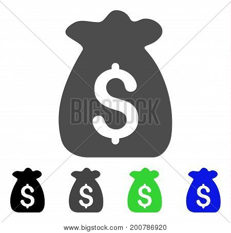 Financial Capital flat vector pictogram. Colored financial capital, gray, black, blue, green pictogram versions. Flat icon style for graphic design.