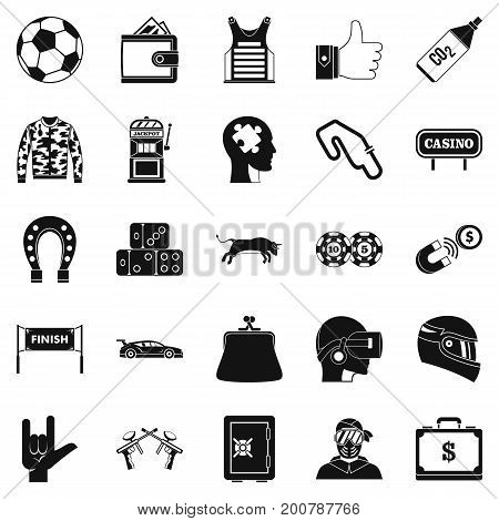 Gaming icons set. Simple set of 25 gaming vector icons for web isolated on white background