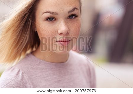 Beautiful girl at the street