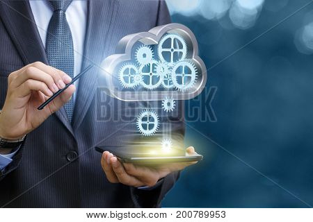 Setup Data Transfer From The Cloud To The Mobile Computer .