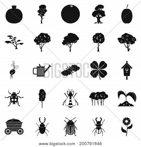 Green fodder icons set. Simple set of 25 green fodder vector icons for web isolated on white background